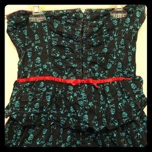 Iron Fist black and blue skull dress with red Sm